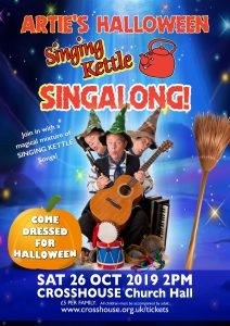 Poster for Arties Singing Kettle Halloween Singalong show